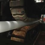 Inside Extruder Machine