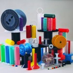 Plastic spools and reels group shot
